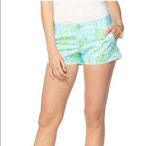 "Lilly Pulitzer Walsh 3"" Shorts Get Crackin Sz 4"